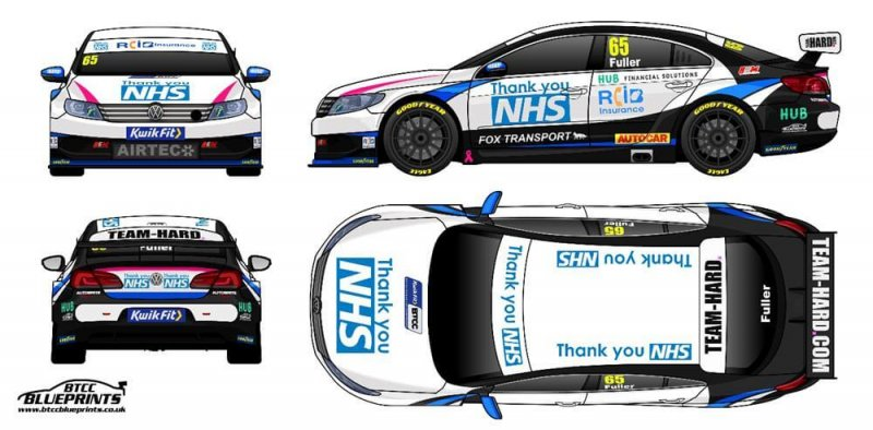 RCIB Sponsored Team Hard BTCC Cars for NHS